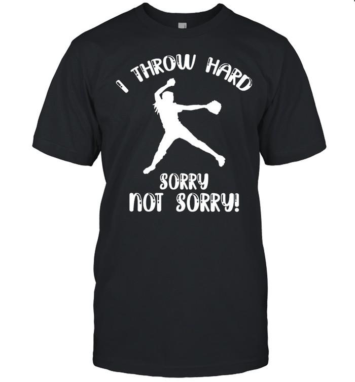 Softball I Throw Hard shirt Classic Men's T-shirt