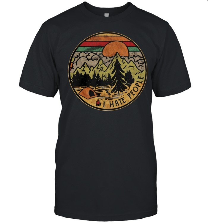 Camping I hate people vintage shirt Classic Men's T-shirt