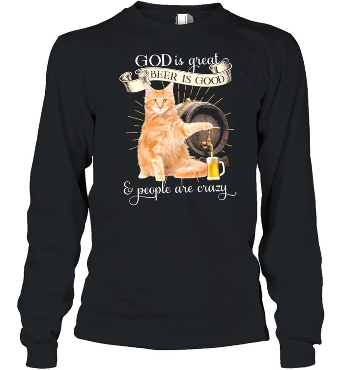 maine coon gods great beers good gift for u classic shirt long sleeved t shirt