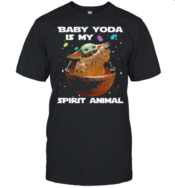 Baby yoda is my spirit animal shirt Classic Men's T-shirt