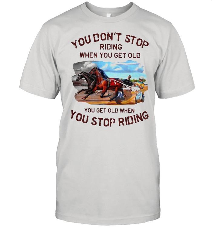 Harness racing you dont stop shirt Classic Men's T-shirt