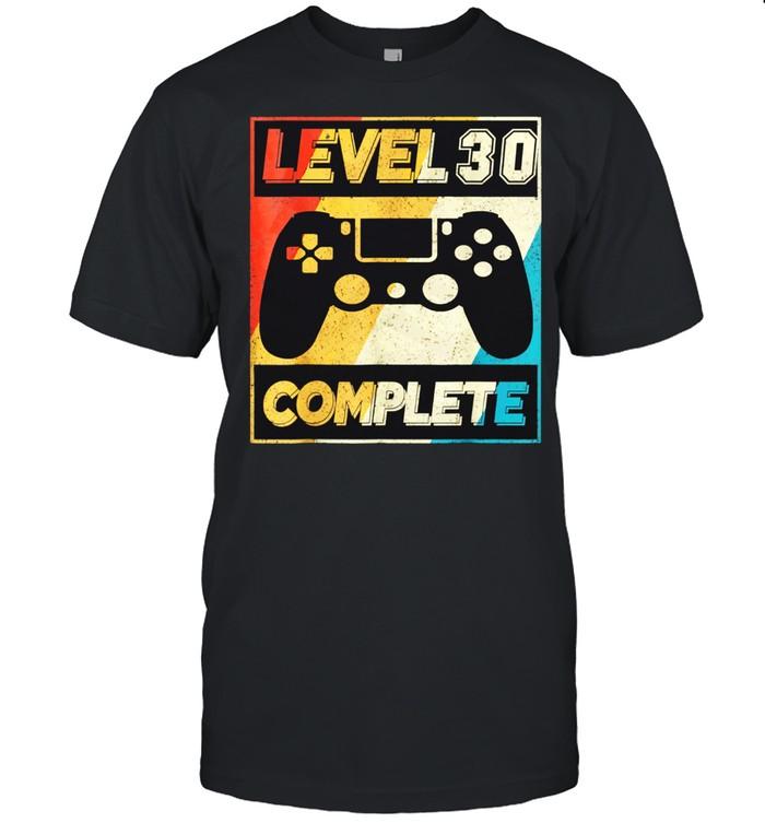 Level 30 complete 30th Video Gamer 1991 shirt Classic Men's T-shirt