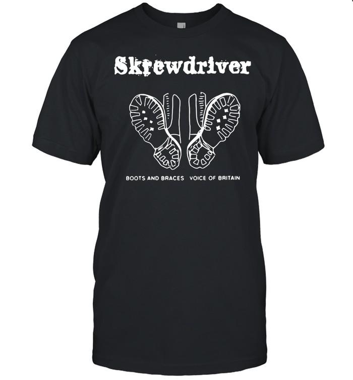 Skrewdriver Boots And Braces Voice Of Britain  Classic Men's T-shirt