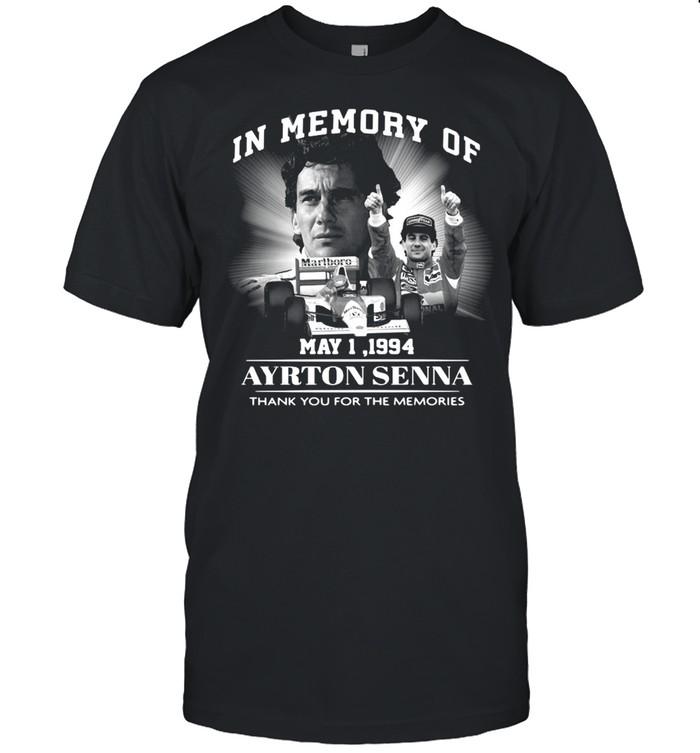 Anna In Memory Of May 1 1994 Ayrton Senna Thank You For The Memories T-shirt Classic Men's T-shirt