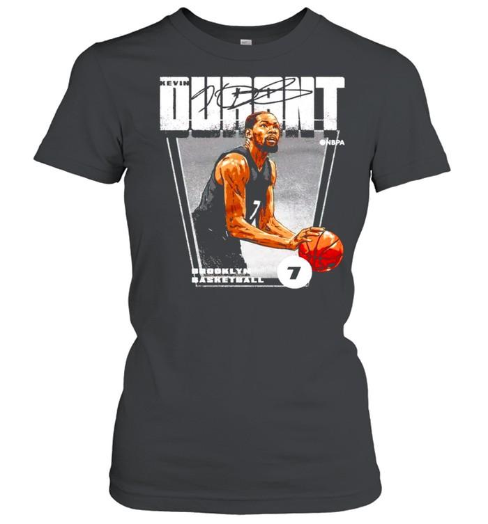 brooklyn basketball 7 kevin durant signature shirt classic womens t shirt