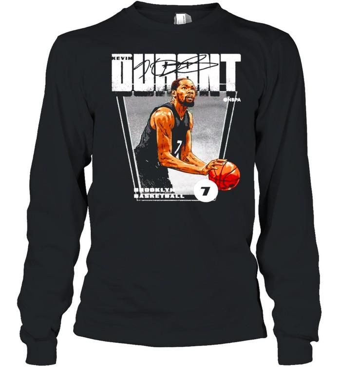 brooklyn basketball 7 kevin durant signature shirt long sleeved t shirt