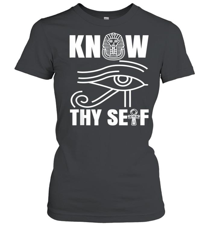 Egypt Eye Pharoah Horus Juneteenth Black History shirt Classic Women's T-shirt