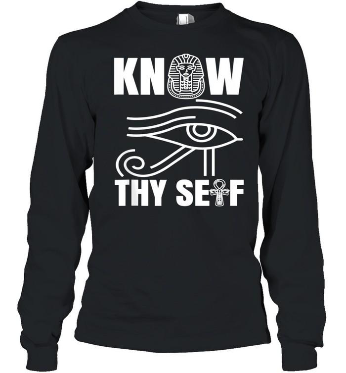 Egypt Eye Pharoah Horus Juneteenth Black History shirt Long Sleeved T-shirt