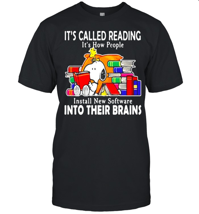 It's Called Reading It's How People Install New Software Into Their Brains Snoopy  Classic Men's T-shirt