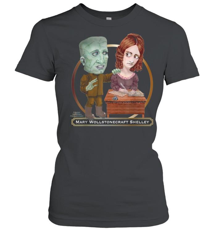 mary wollstonecraft shelley and frankenstein shirt classic womens t shirt