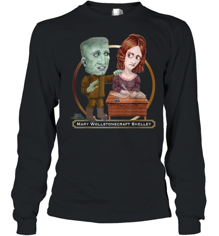 mary wollstonecraft shelley and frankenstein shirt long sleeved t shirt