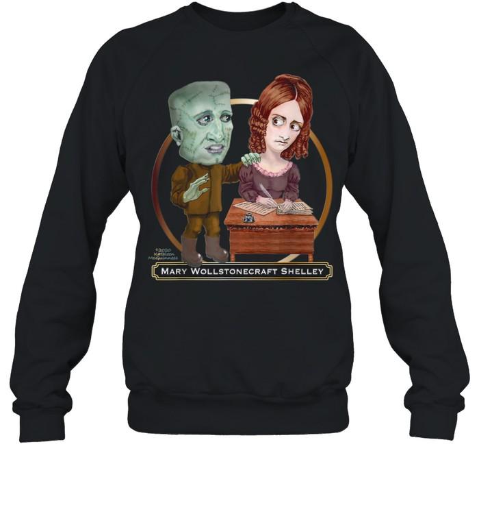 mary wollstonecraft shelley and frankenstein shirt unisex sweatshirt