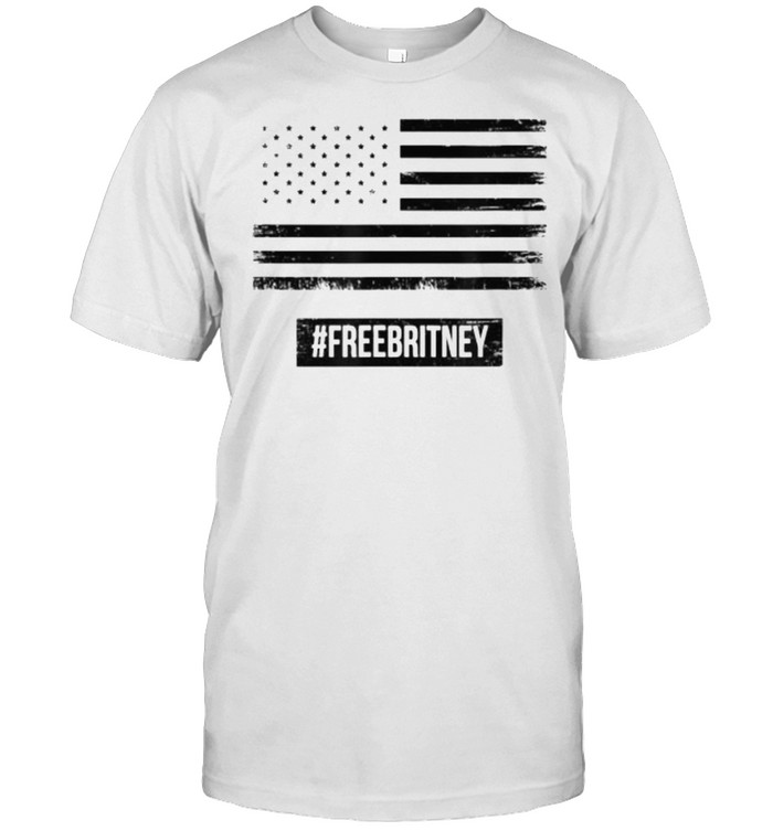 Free Britney Hashtag Support American Flag T- Classic Men's T-shirt