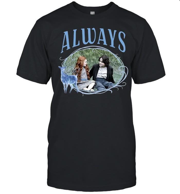 Kids Harry Potter Snape And Lily Patronus Frame Always Portrait T-shirt Classic Men's T-shirt