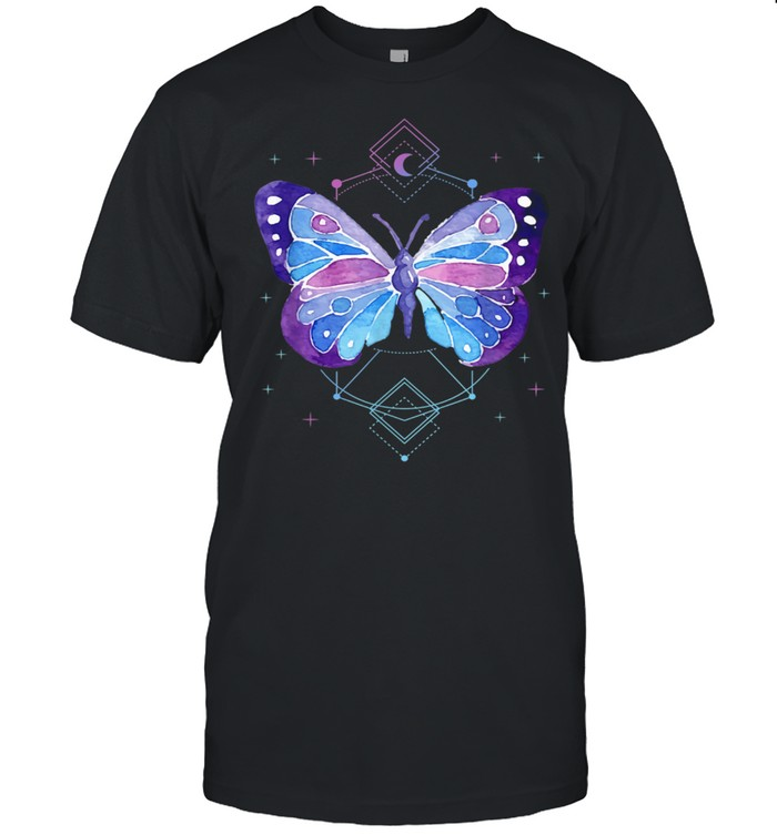 Occult Pagan Japanese Butterfly Vaporwave Anime Pastel Goth shirt Classic Men's T-shirt