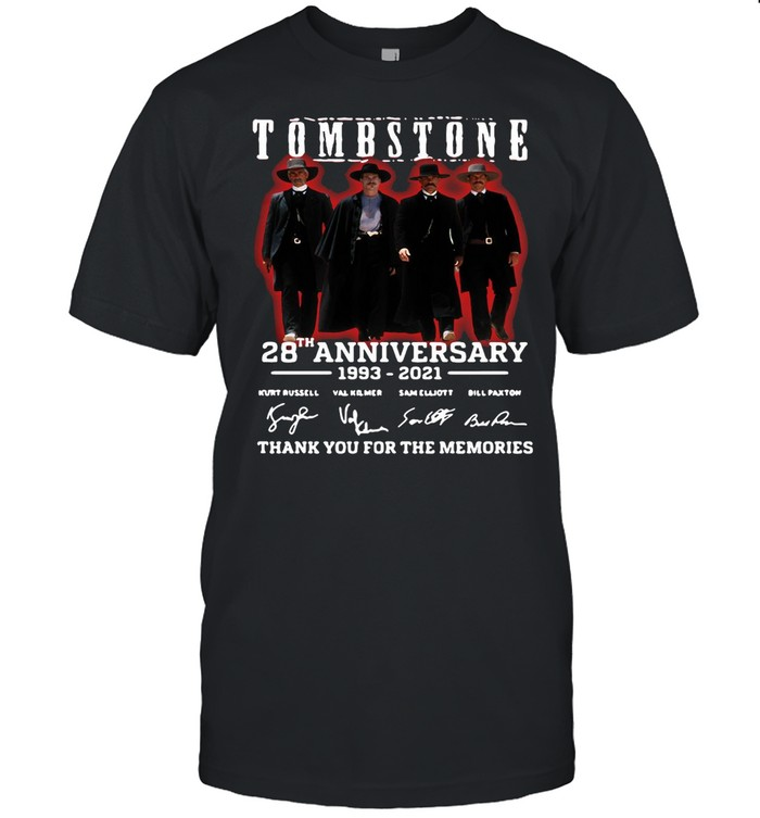 28 Years 1993-2021 Funny Tombstone Signature Thank You For The Memories  Classic Men's T-shirt