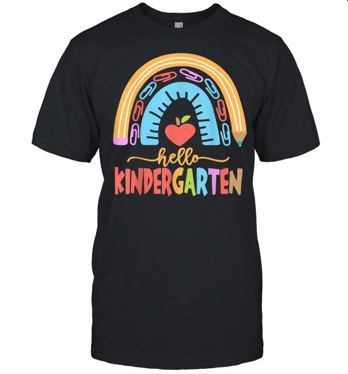 Hello Kindergarten Squad Happy First Day Of School shirt Classic Men's T-shirt