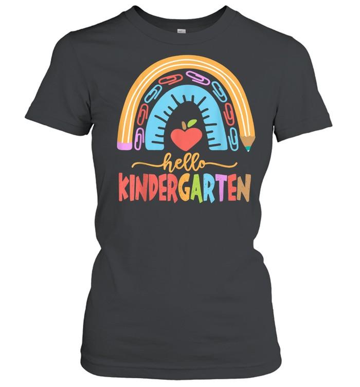Hello Kindergarten Squad Happy First Day Of School shirt Classic Women's T-shirt