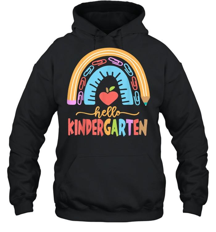 Hello Kindergarten Squad Happy First Day Of School shirt Unisex Hoodie