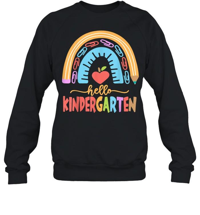 Hello Kindergarten Squad Happy First Day Of School shirt Unisex Sweatshirt