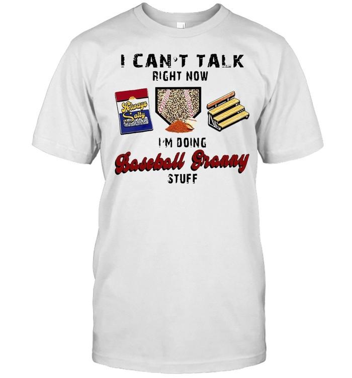 I Can't Talk Right Now I'm Doing Baseball Granny Stuff T-shirt Classic Men's T-shirt