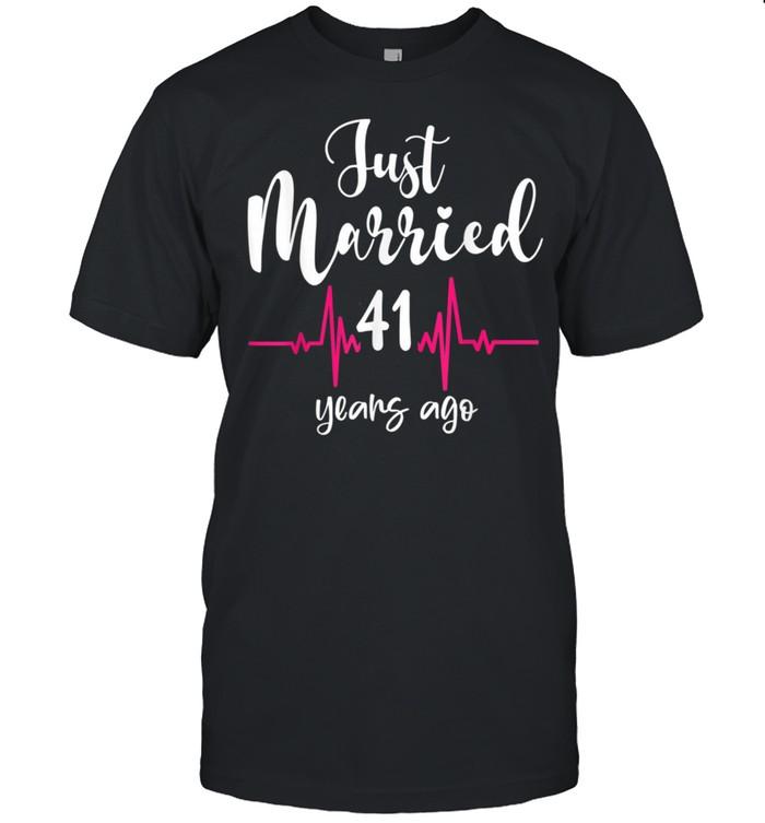 Wedding Anniversary Just Married 41 Years Ago Couple shirt Classic Men's T-shirt