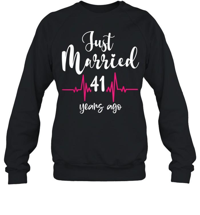 Wedding Anniversary Just Married 41 Years Ago Couple shirt Unisex Sweatshirt
