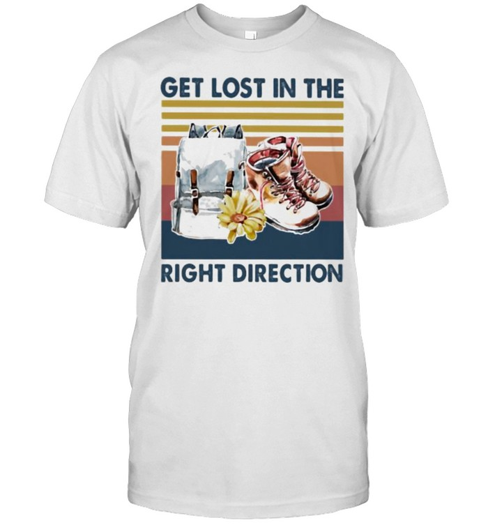 Get Lost In The Right Direction Vintage  Classic Men's T-shirt