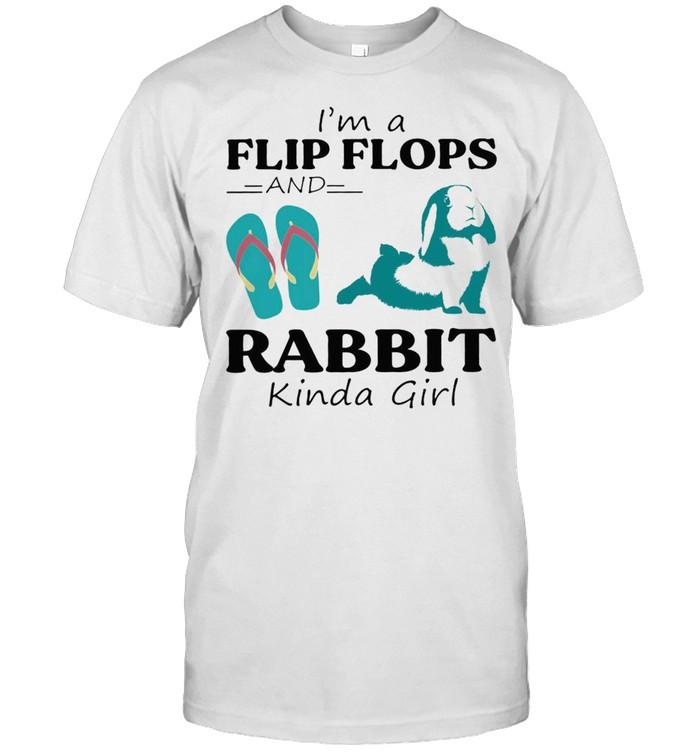 Im a Flip Flop and Rabbit kinda girl shirt Classic Men's T-shirt