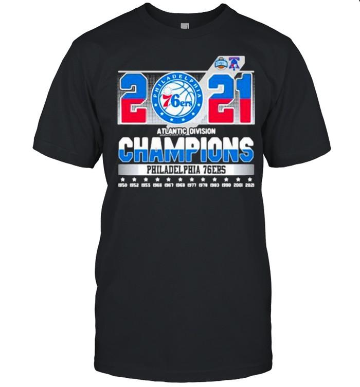 Atlantic division champions 2021 philadelphia 76ers shirt Classic Men's T-shirt