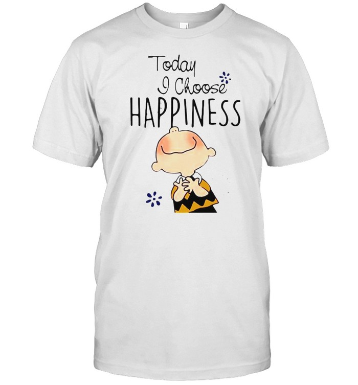 Today I Choose Happiness Snoopy  Classic Men's T-shirt