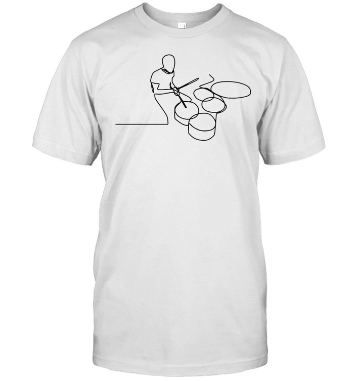 A Man Is Playing Drum  Classic Men's T-shirt
