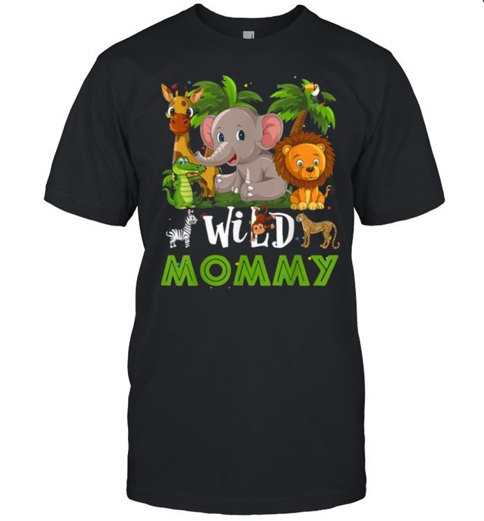 Mommy of the Wild Zoo Birthday Safari Jungle Animal Funny T- Classic Men's T-shirt