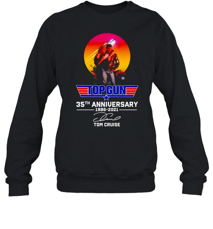 Top Gun 35th Anniversary 1986 2021 Tom Cruise signature shirt Unisex Sweatshirt
