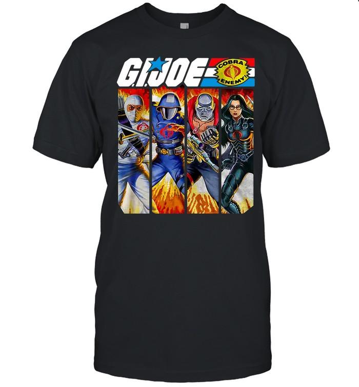 Cobra Box Art Collage GI Joe T-shirt Classic Men's T-shirt