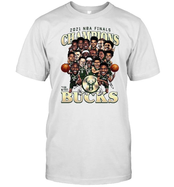 Meme Milwaukee Bucks 2021 NBA Finals Champions Team Caricature Roster shirt Classic Men's T-shirt