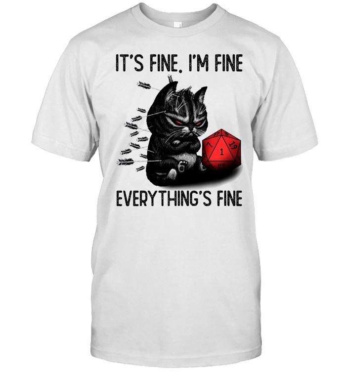 Cat its fine im fine everythings fine 2021 shirt Classic Men's T-shirt