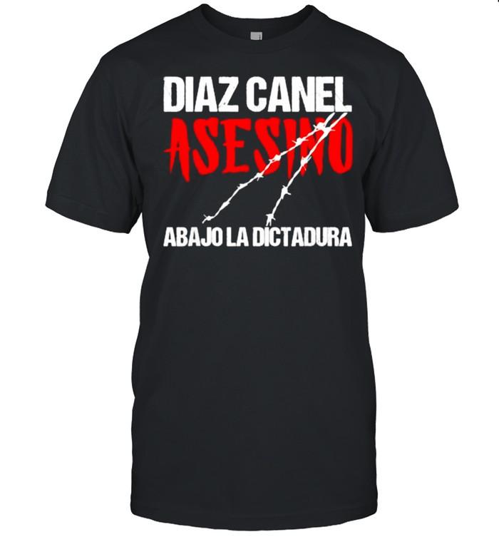 Diaz Canel Asesino Abajo la Dictadura Diaz Canel Singao T- Classic Men's T-shirt