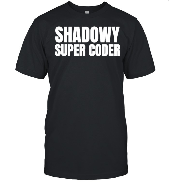 Shadowy Super Coder Crypto Cryptocurrency T- Classic Men's T-shirt