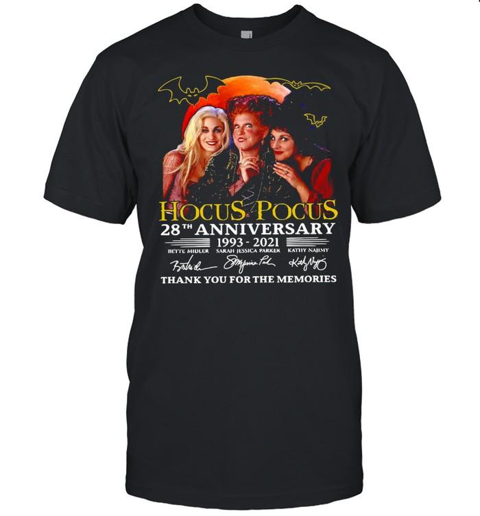 Hocus Pocus 28th Anniversary 1993-2021 Thank You For The Memories Signatures T-shirt Classic Men's T-shirt