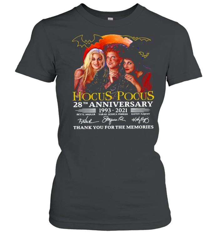 Hocus Pocus 28th Anniversary 1993-2021 Thank You For The Memories Signatures T-shirt Classic Women's T-shirt