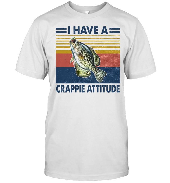 Have a crappie attitude vintage shirt Classic Men's T-shirt
