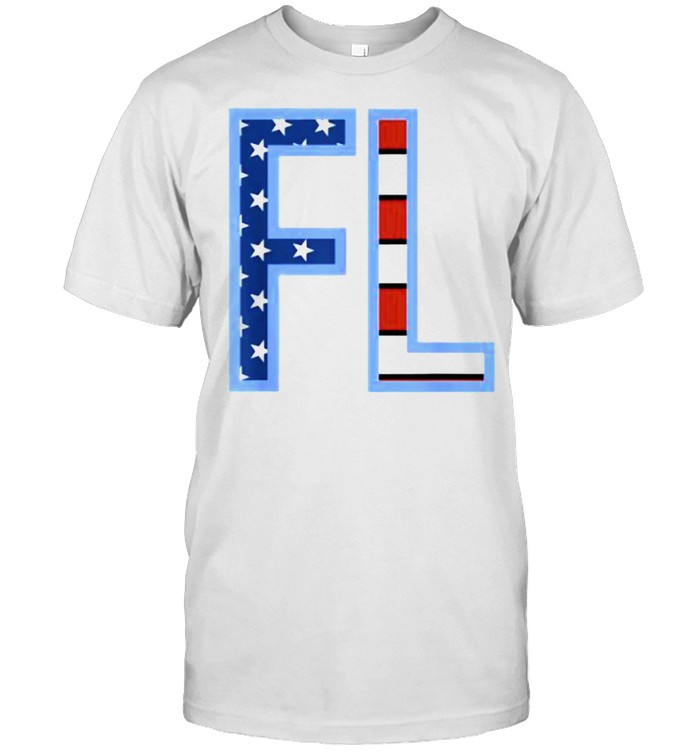 FL Florida Her State Outline Abbreviation T- Classic Men's T-shirt