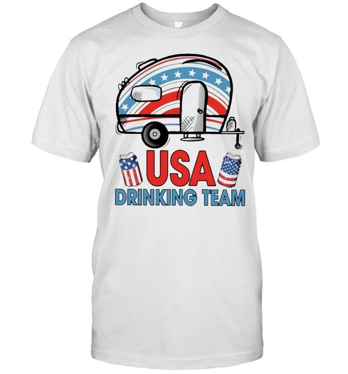 camping usa drinking team american flag shirt Classic Men's T-shirt