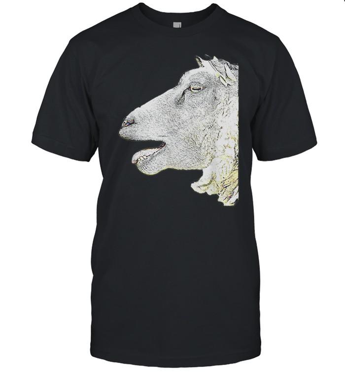 Schafsgesicht Originalkunst Schafkunst KEINE WORTE shirt Classic Men's T-shirt