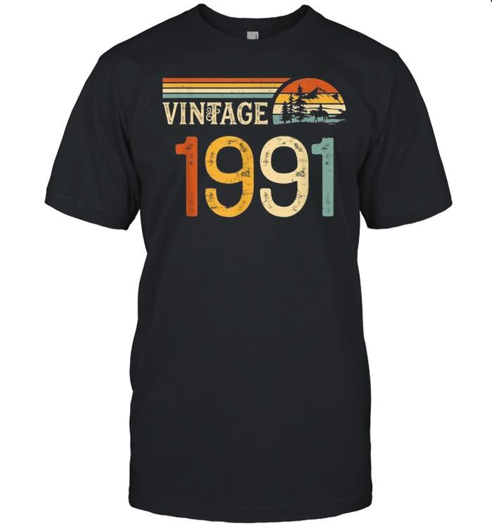 29 Years Old Vintage 1991 Retro 29th Birthday shirt Classic Men's T-shirt