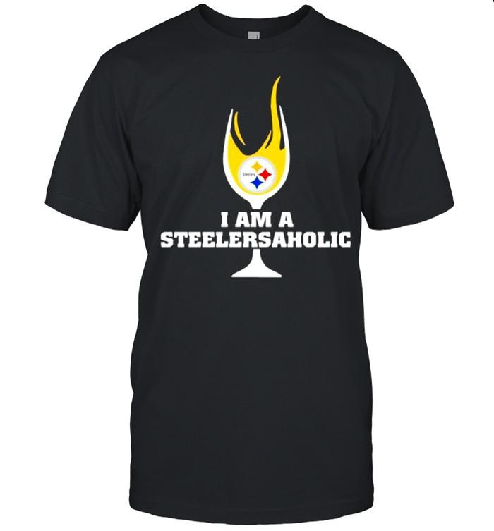 I am a Steelers Aholic wine shirt Classic Men's T-shirt