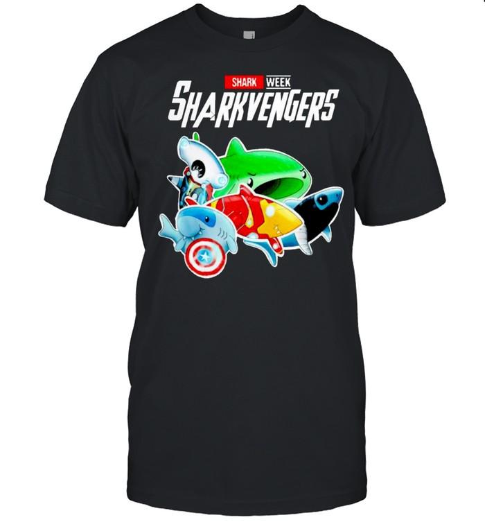 Marvel Avenger shark week sharkvengers shirt Classic Men's T-shirt