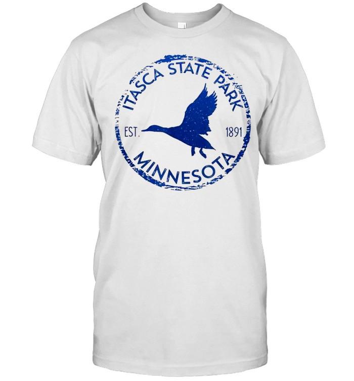 Itasca State Park Minnesota Birder's Duck in Flight shirt Classic Men's T-shirt