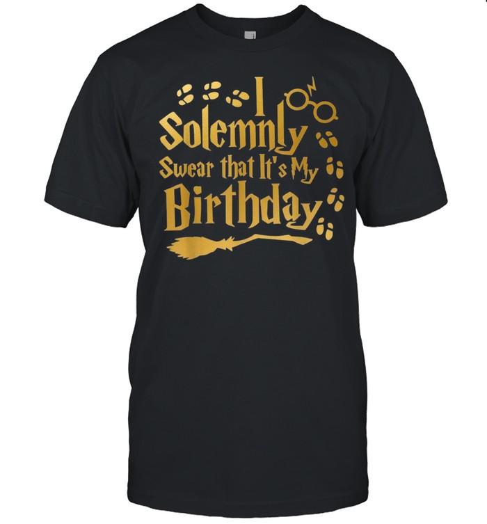 I Solemnly Swear That It's My Birthday Halloween shirt Classic Men's T-shirt